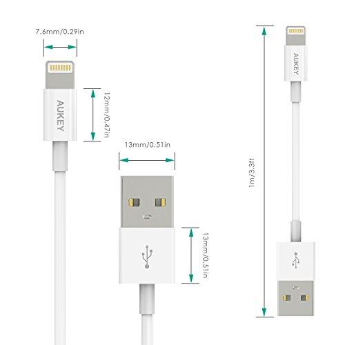 ab52804d1a6 Nueva Versión] Aukey® [Apple MFi Certificado] Cable de datos de USB ...