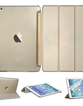 Swees-Funda-Proteccin-Ultra-Fina-y-Ligera-con-Smart-Cover-para-Apple-iPad-air-Protector-de-pantalla-Lpiz-ptico-Amarillo-Dorado-0